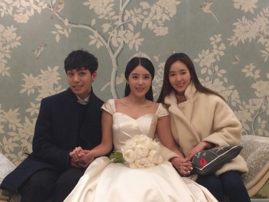 Sungmin and Kim Sa Eun se casam7